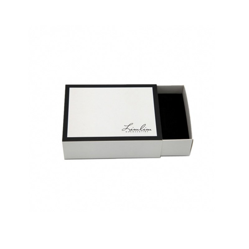 Customized Logo White Paper Gift Box with Sponge
